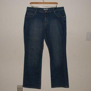 CHICO'S Embellished Denim Straight Crystal Jean 14